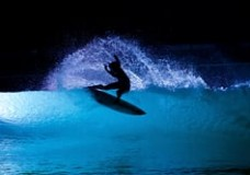 Night Surfing at Wavegarden.