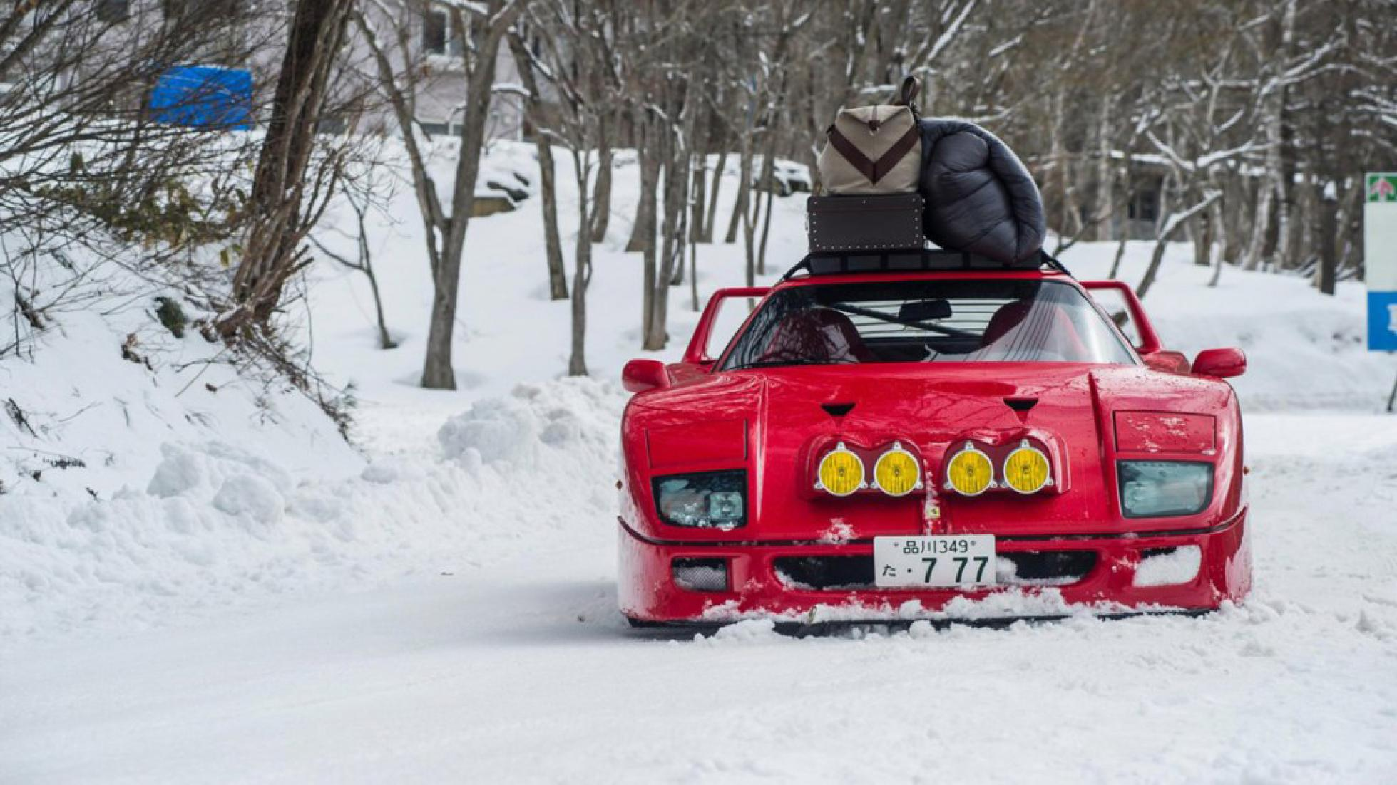 Drifting a Ferrari F40 in Snow Up To Base Camp 4K. 1