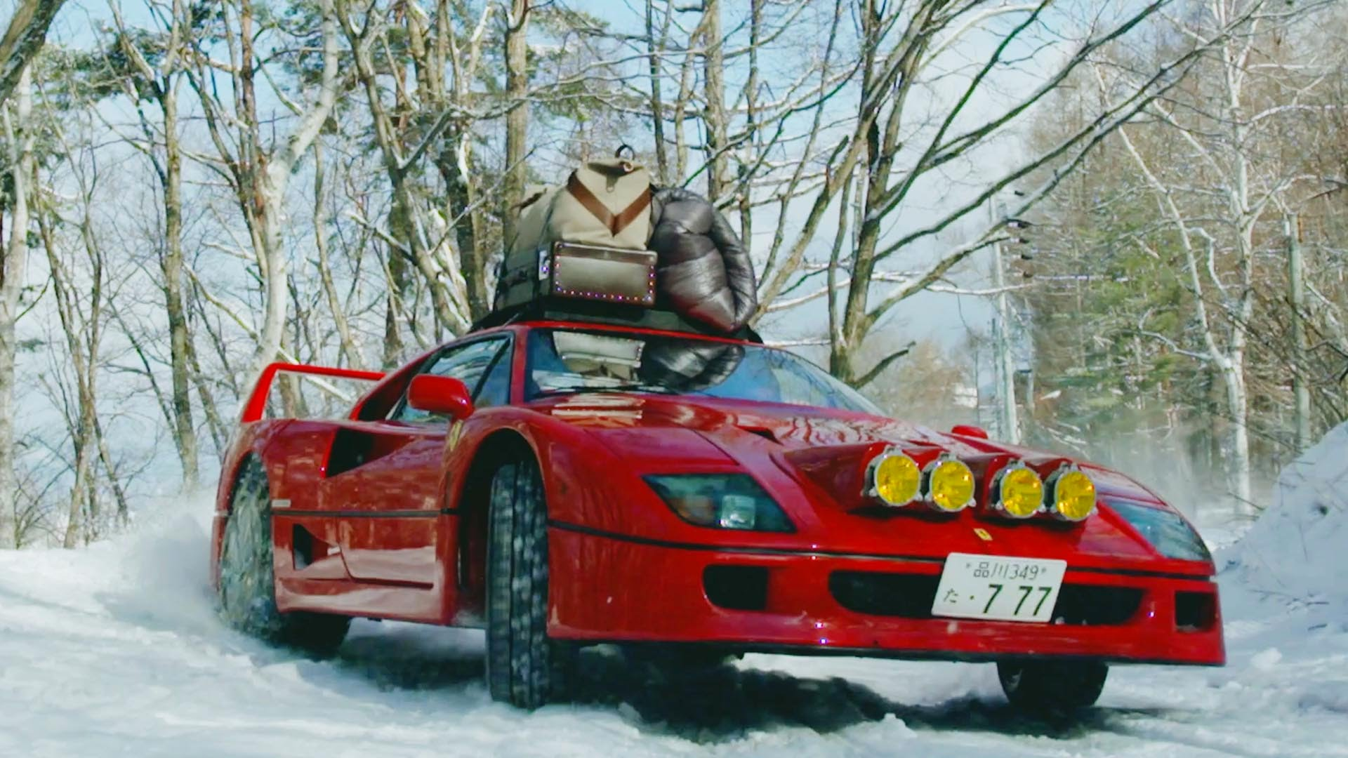 Drifting a Ferrari F40 in Snow Up To Base Camp 4K.