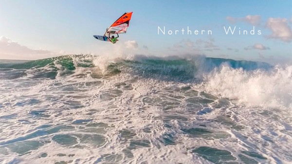 Northern winds – Windsurfing by drone.
